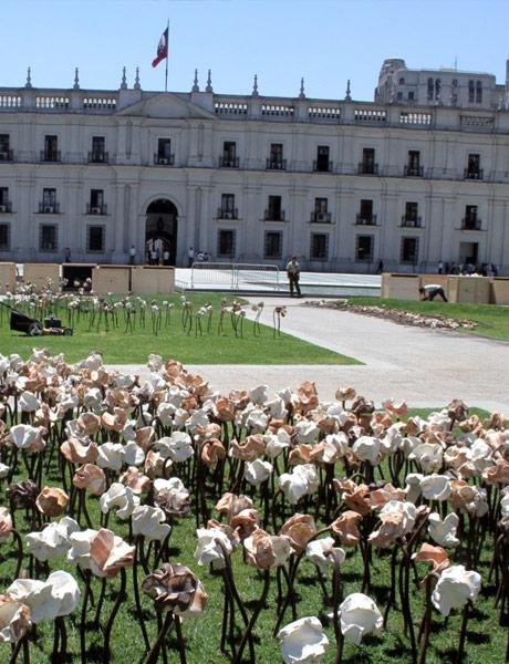 Exposicion de Flores en La Moneda